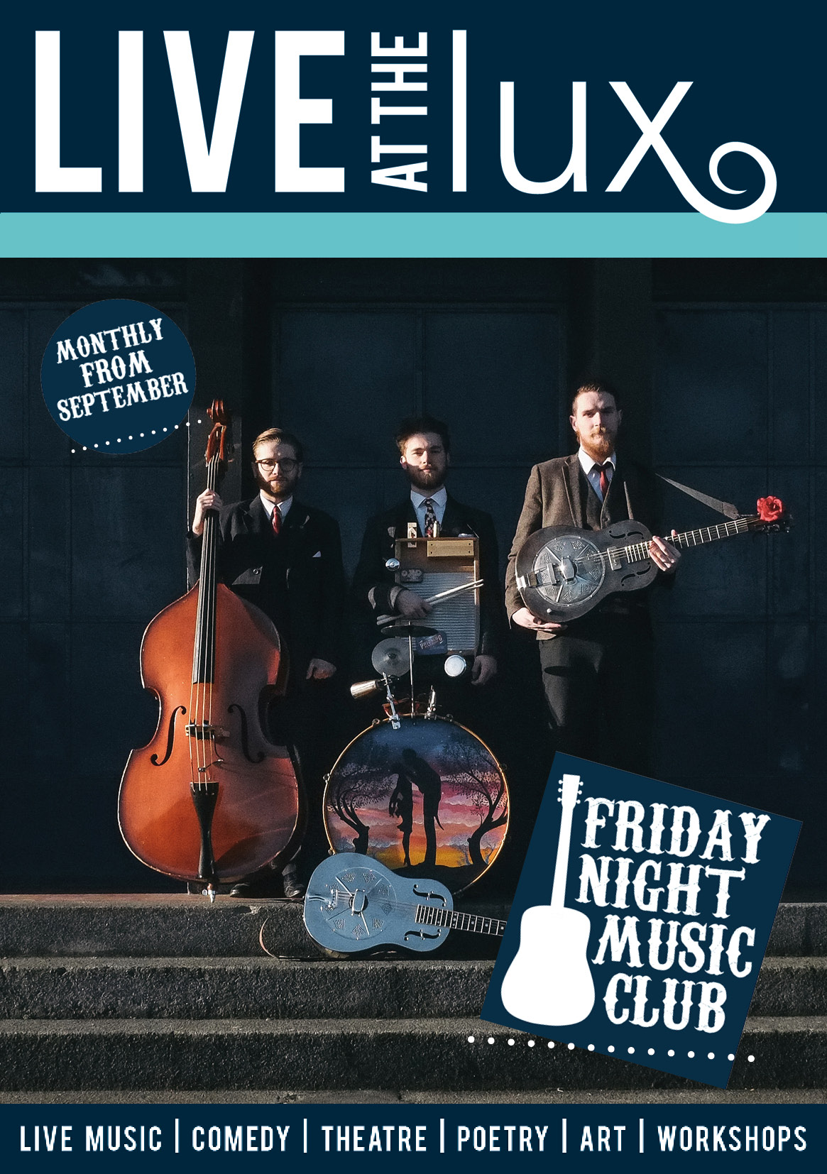 Friday Night Music Club Flyer Page 1